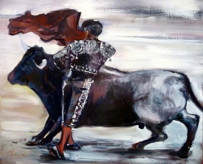 corrida peinture à l huile