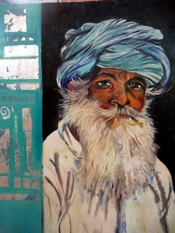 portrait peinture à l`huile