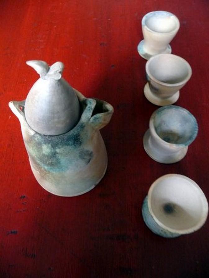 enfumage : service à thé